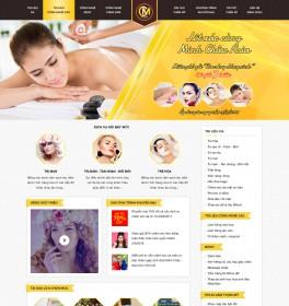 Mẫu thiết kế web thẩm mỹ spa màu gold copy