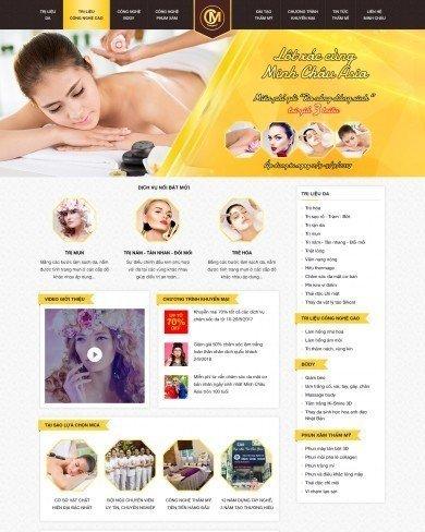 Mẫu thiết kế web thẩm mỹ spa