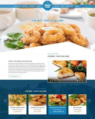 Mẫu thiết kế web thực phẩm