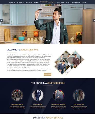 Mẫu thiết kế web thời trang cao cấp