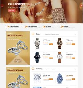 Mẫu thiết kế web trang sức cao cấp