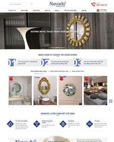 Mẫu thiết kế web bán gương cao cấp