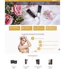 Mẫu thiết kế web bán mĩ phẩm cao cấp