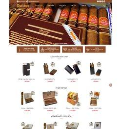 Mẫu thiết kế web bán xì gà cao cấp