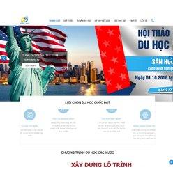 Website giới thiệu công ty du học