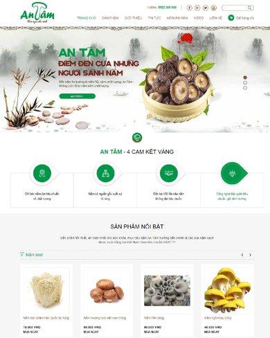 Website bán thực phẩm nấm