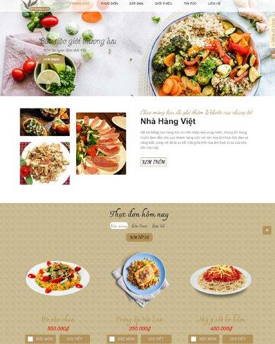 Website giới thiệu, đặt bàn nhà hàng