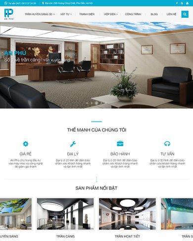 Website thiết kế và sản phẩm nội thất