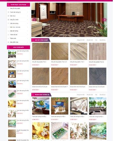 Web site bán đồ nội thất, trang trí nhà