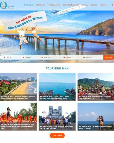 Website giới thiệu Tour du lịch