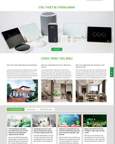 Website giới thiệu thiết kế nhà thông minh