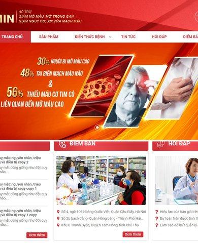 Mẫu website bán thực phẩm chức năng TP2