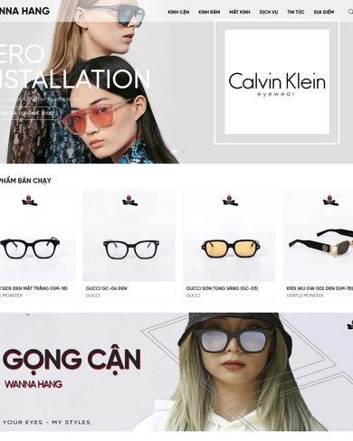 Mẫu website bán kính thời trang